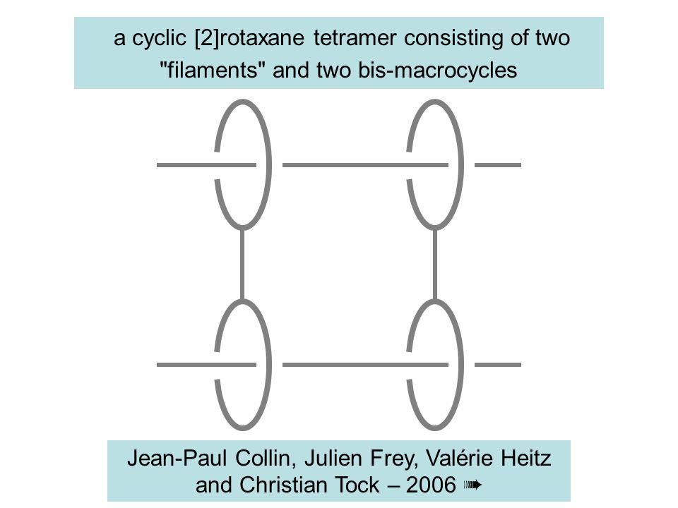 a cyclic [2]rotaxane tetramer consisting of two filaments and two bis-macrocycles